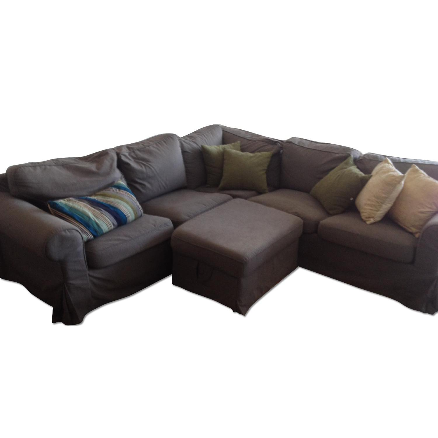 Ikea Dark Grey Sectional Sofa - image-0