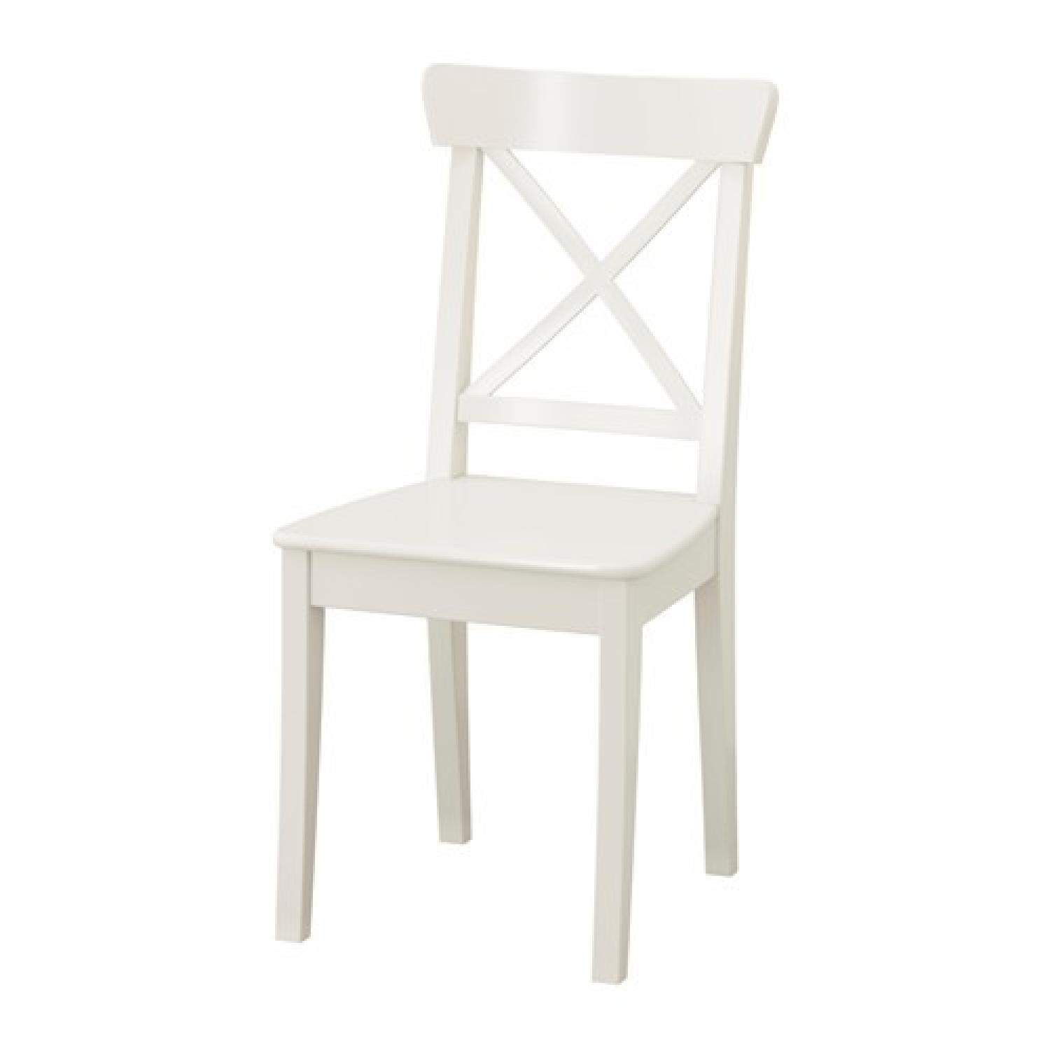 Ikea White Dining Chair - image-1