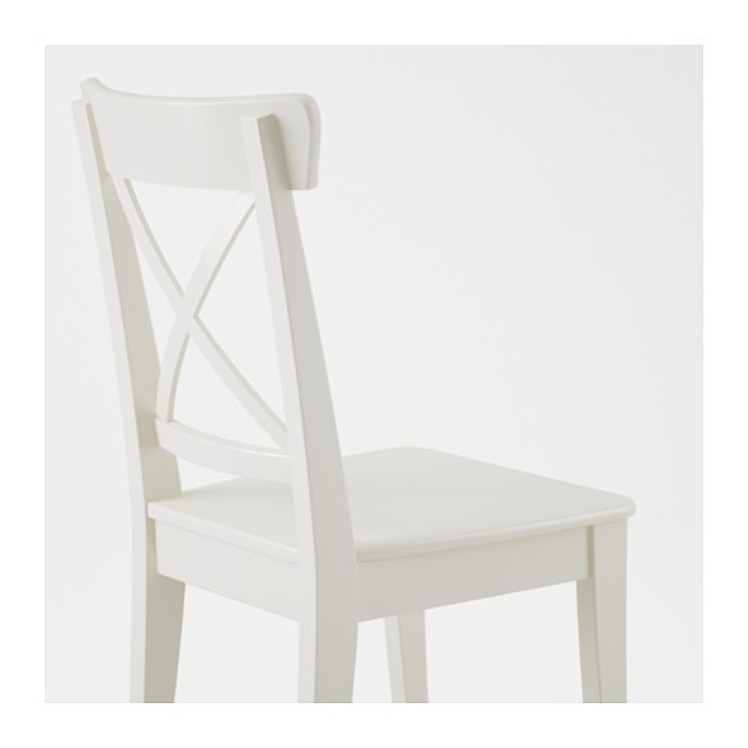 Ikea White Dining Chair - image-2