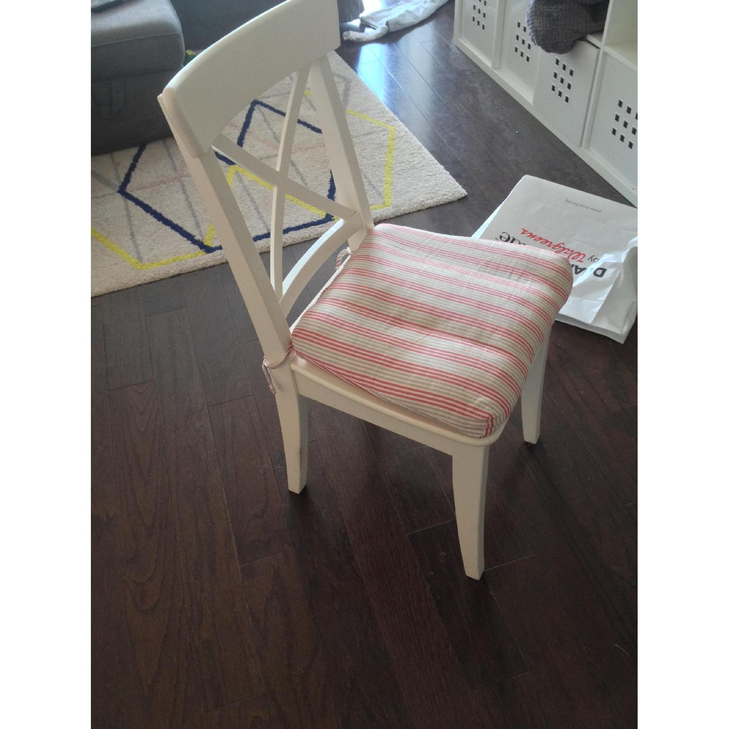 Ikea White Dining Chair - image-4