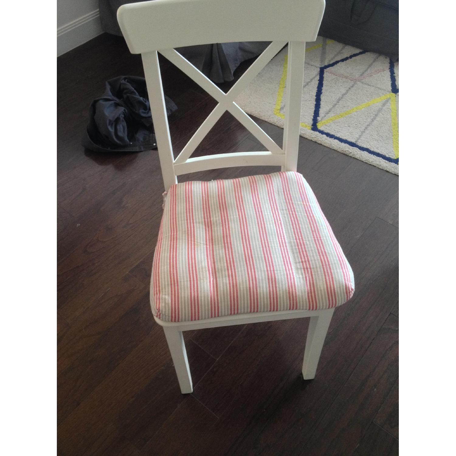 Ikea White Dining Chair - image-5