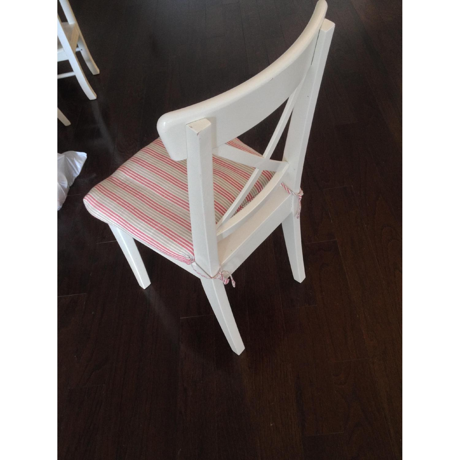 Ikea White Dining Chair - image-6