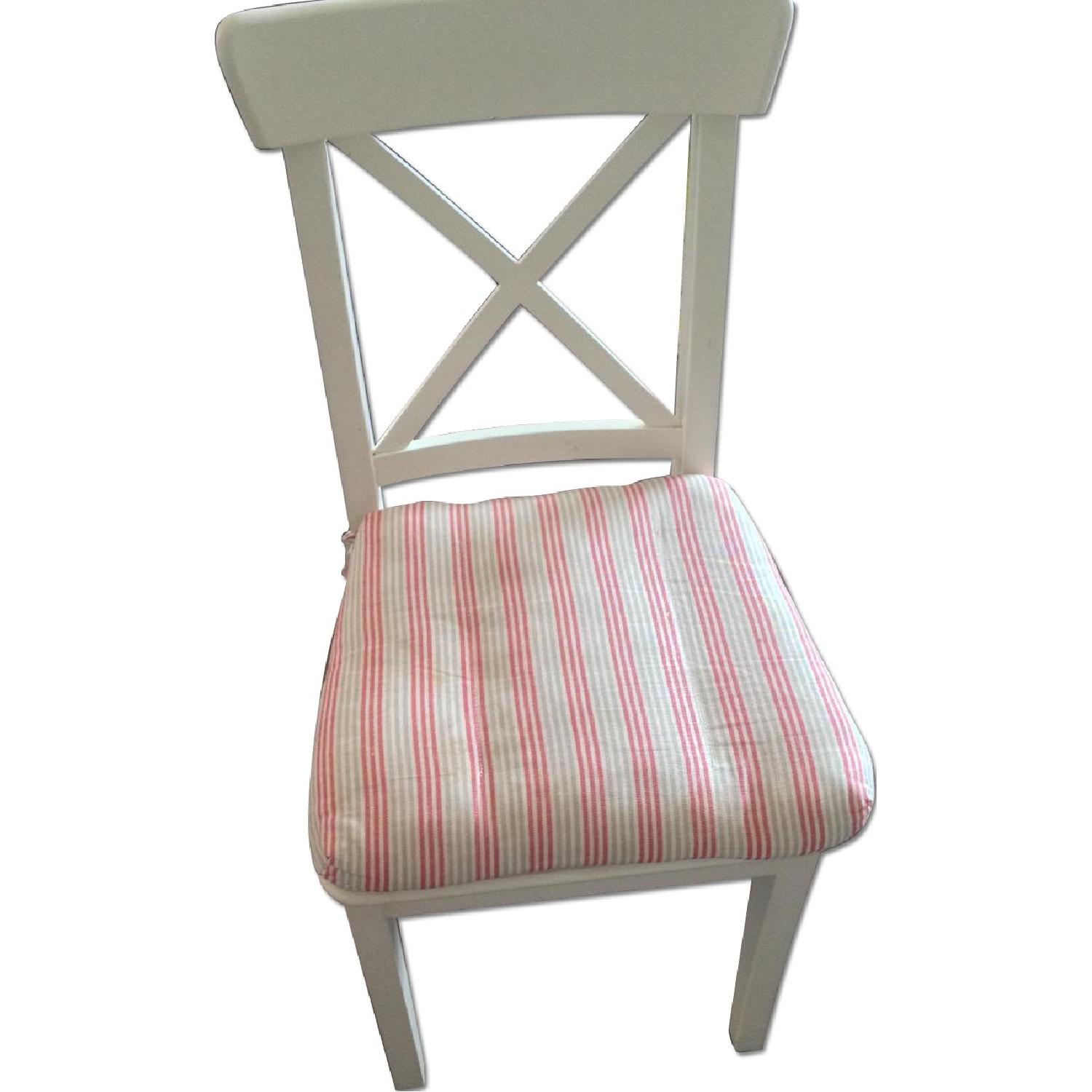 Ikea White Dining Chair - image-0