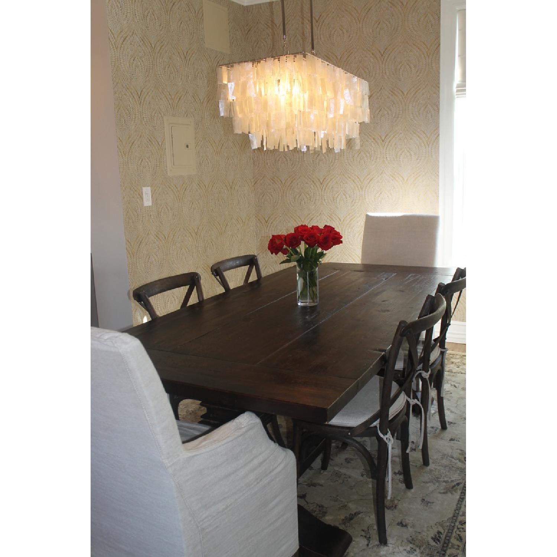 Restoration Hardware Trestle Dining Table - image-4