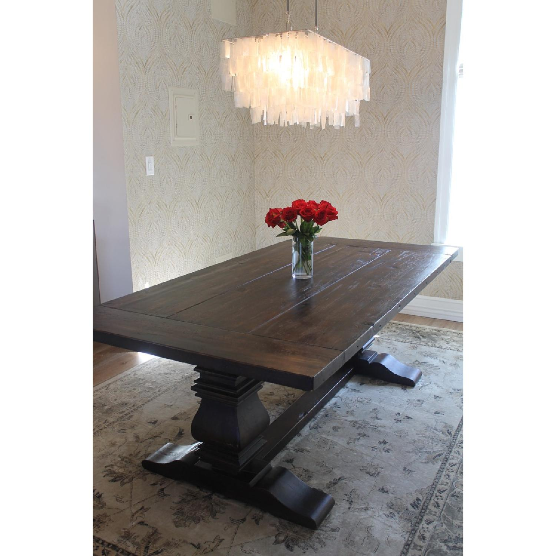 Restoration Hardware Trestle Dining Table - image-6
