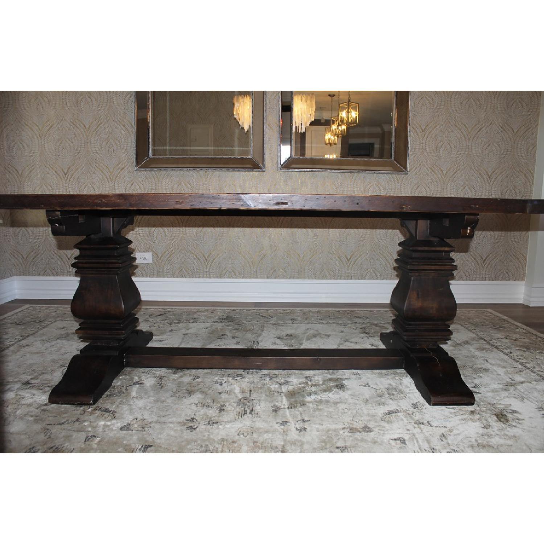 Restoration Hardware Trestle Dining Table - image-7