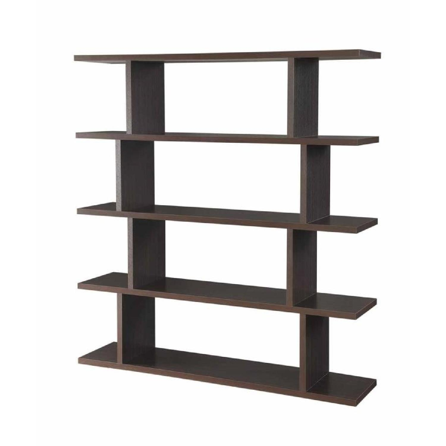 Book/Display Shelf in Cappuccino Finish - image-0