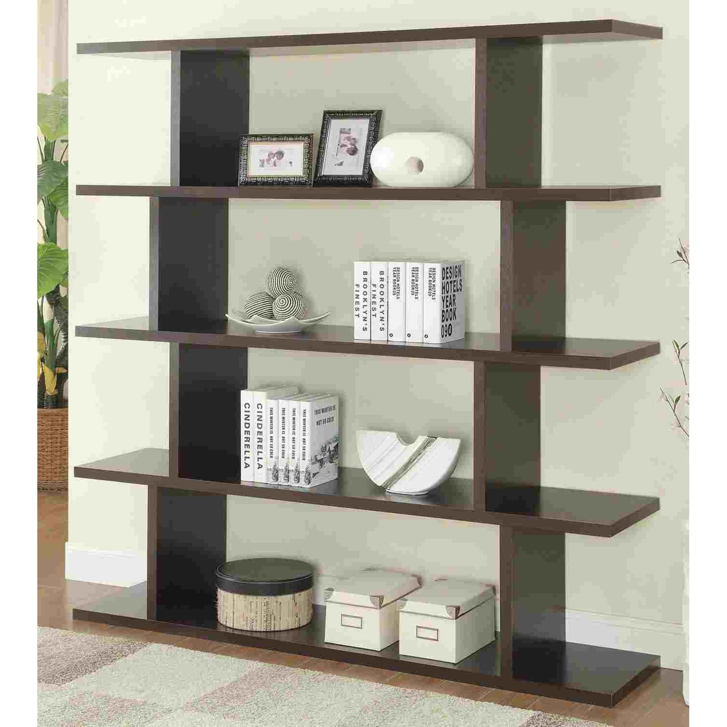 Book/Display Shelf in Cappuccino Finish - image-1