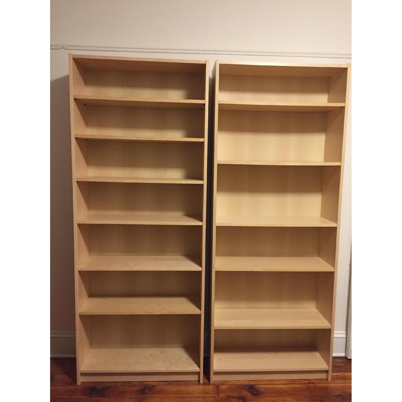 Ikea Billy Bookcases in Birch Veneer - image-1