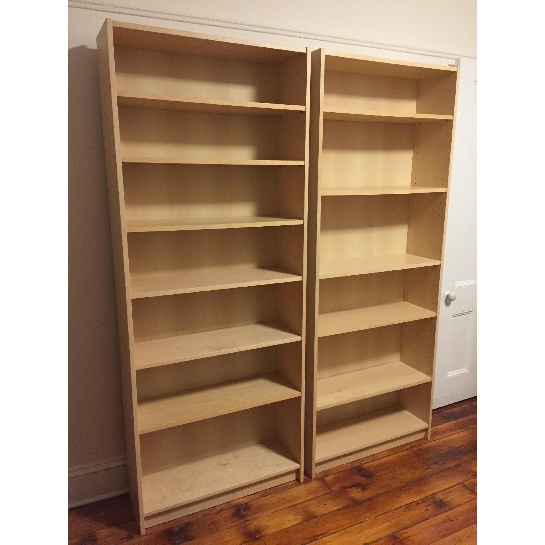Ikea Billy Bookcases in Birch Veneer - image-2