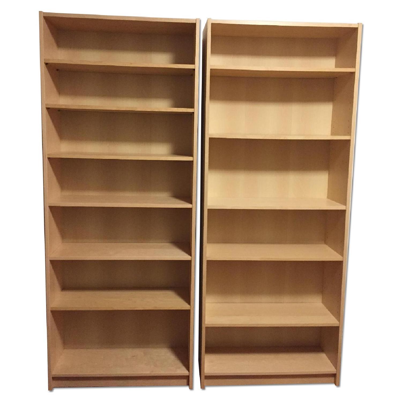 Ikea Billy Bookcases in Birch Veneer - image-0