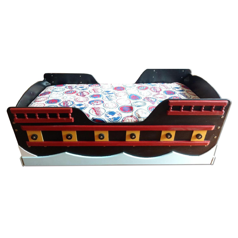 Pirate Ship Toddler Bed - image-0