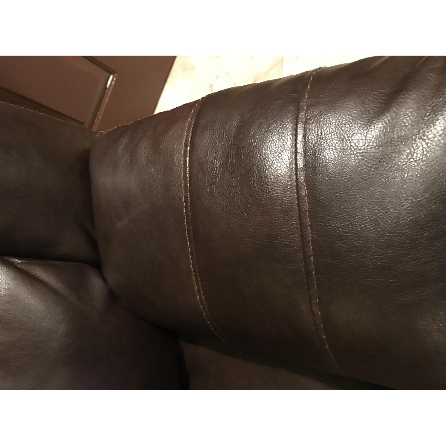 Ashley's Brown Leather Power Reclining Sectional - image-4