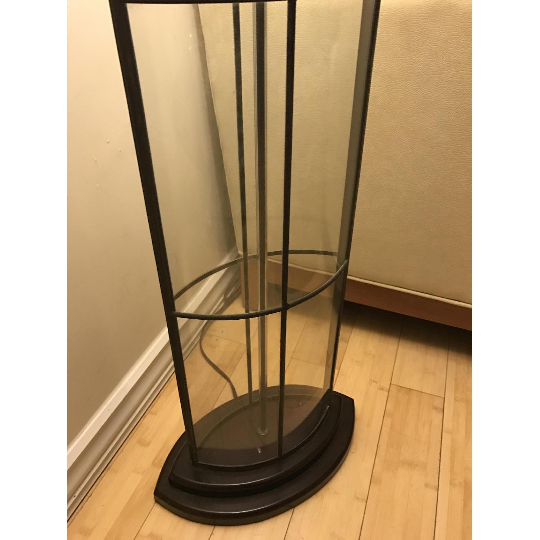 Ethan Allen 3-Way Floor Lamp w/ Shabby Chic Lamp Shade - image-3