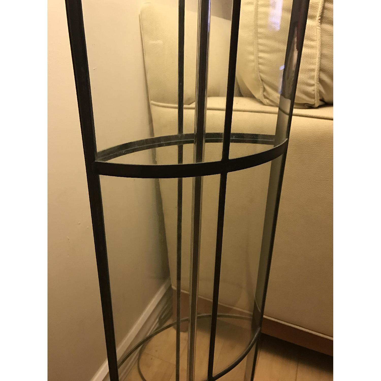 Ethan Allen 3-Way Floor Lamp w/ Shabby Chic Lamp Shade - image-4