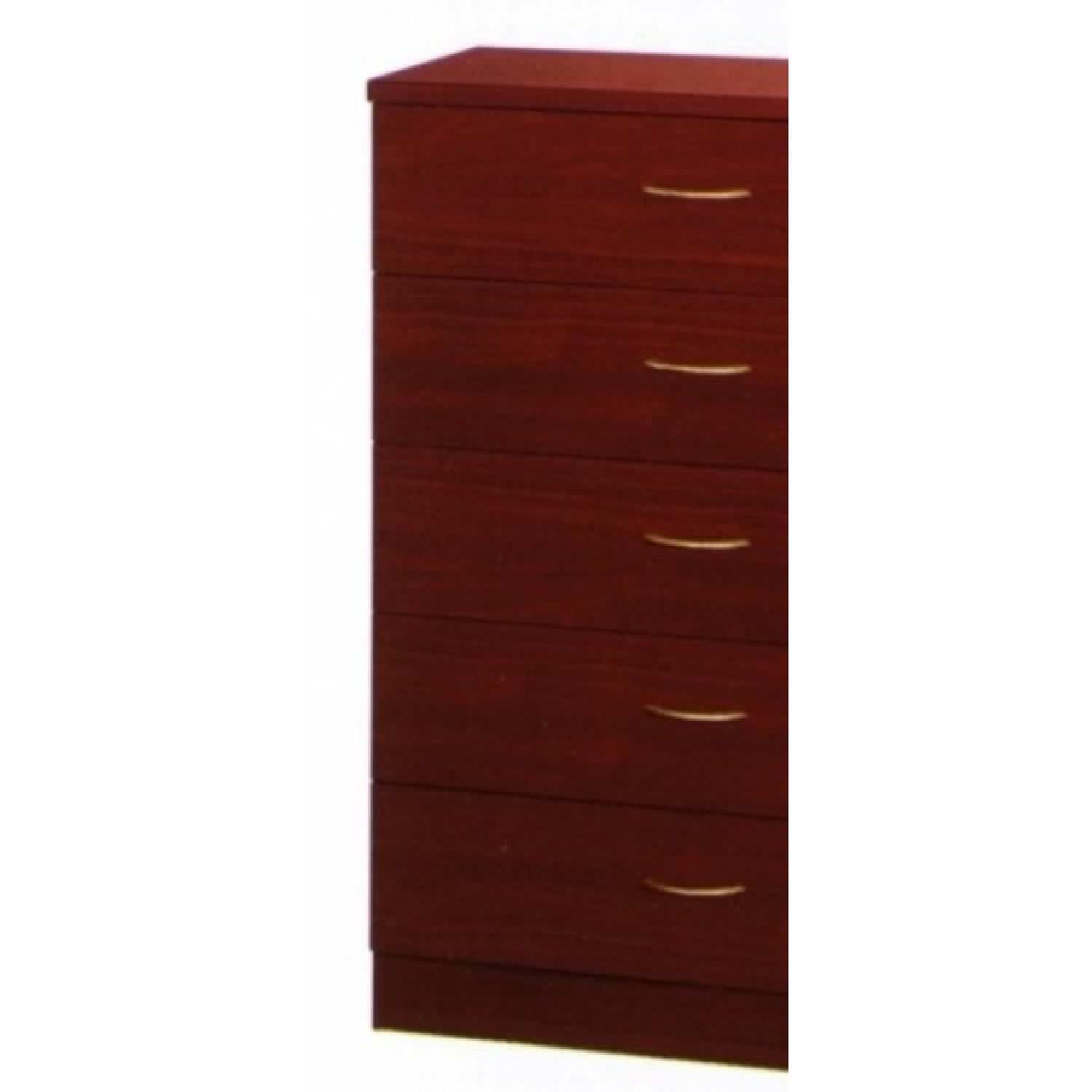 5 Drawer Chest in Mahogany Finish - image-2