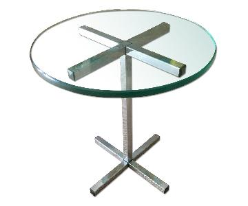 Vintage Chrome & Glass Coffee/Side Table