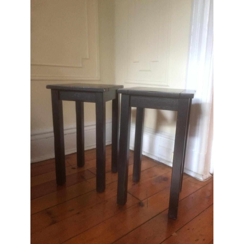 Crate & Barrel Black Side Tables - image-1
