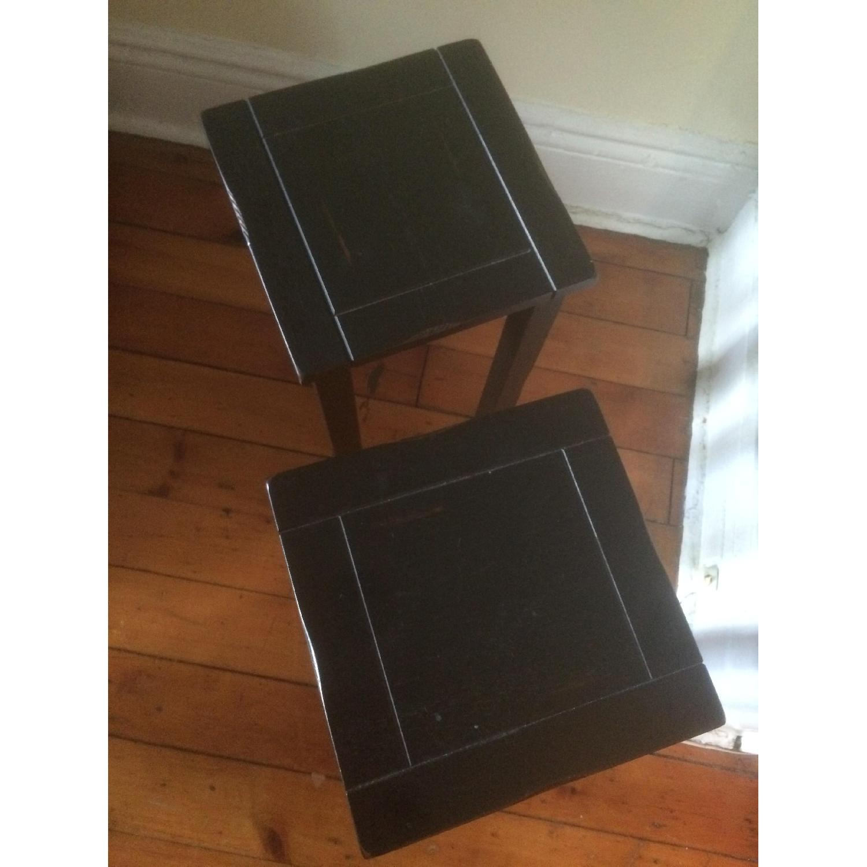 Crate & Barrel Black Side Tables - image-2