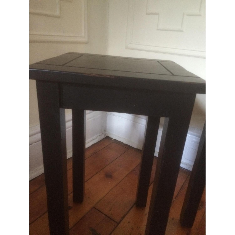 Crate & Barrel Black Side Tables - image-3