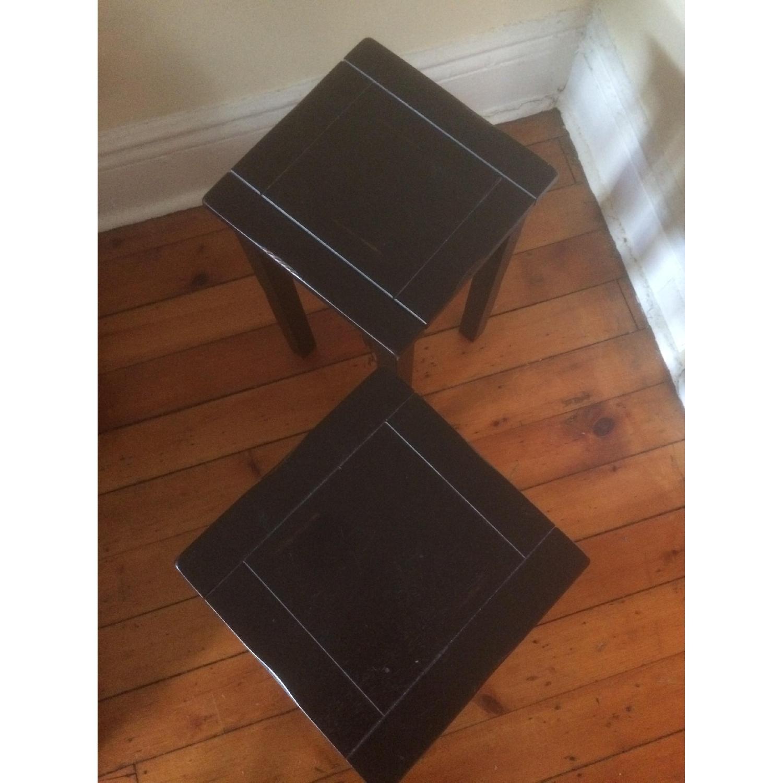 Crate & Barrel Black Side Tables - image-4