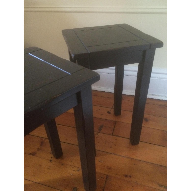 Crate & Barrel Black Side Tables - image-6