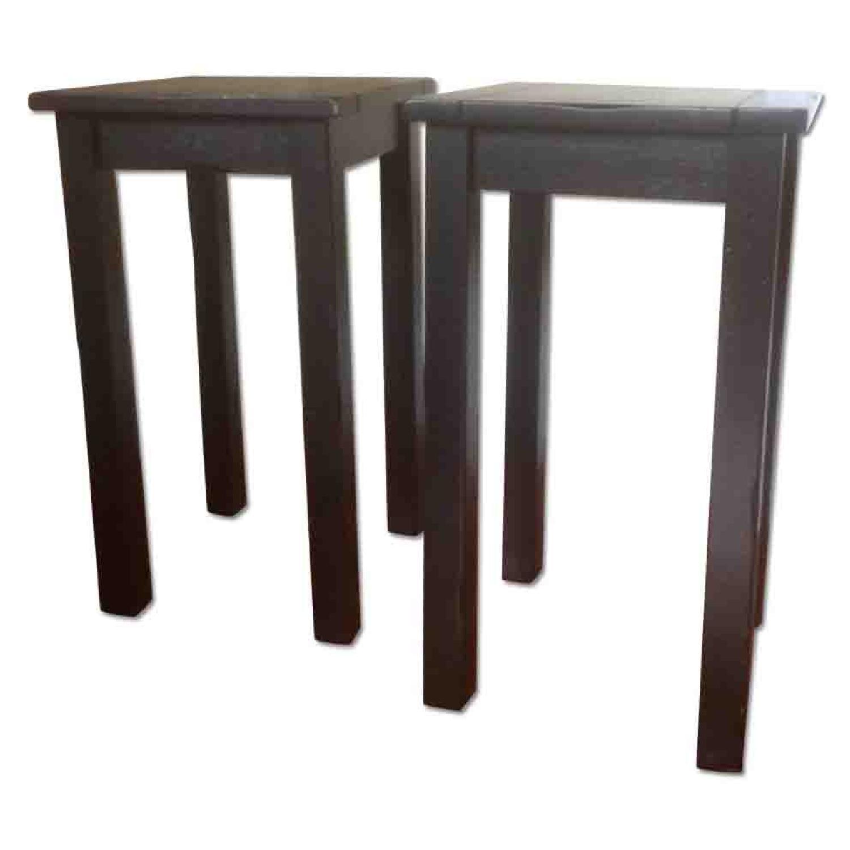Crate & Barrel Black Side Tables - image-0