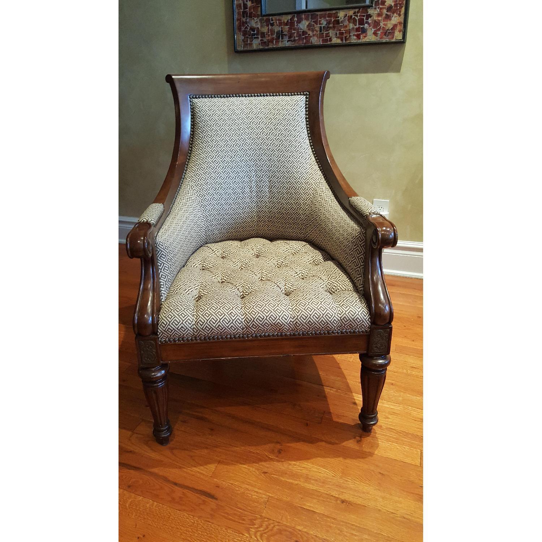 Thomasville Chair & Ottoman - image-1