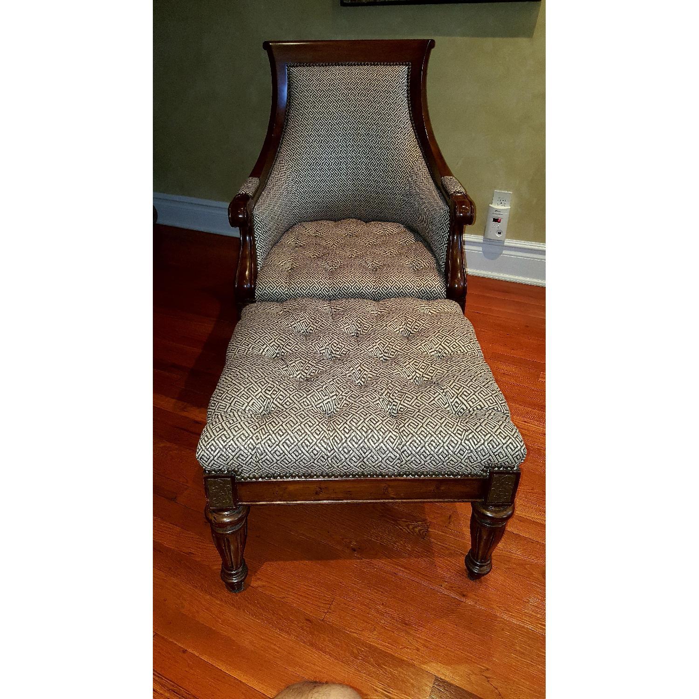 Thomasville Chair & Ottoman - image-0