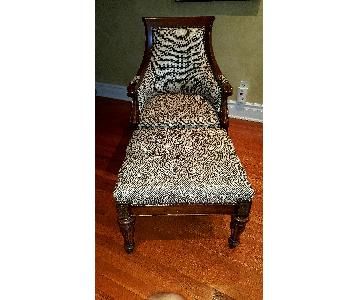 Thomasville Chair & Ottoman