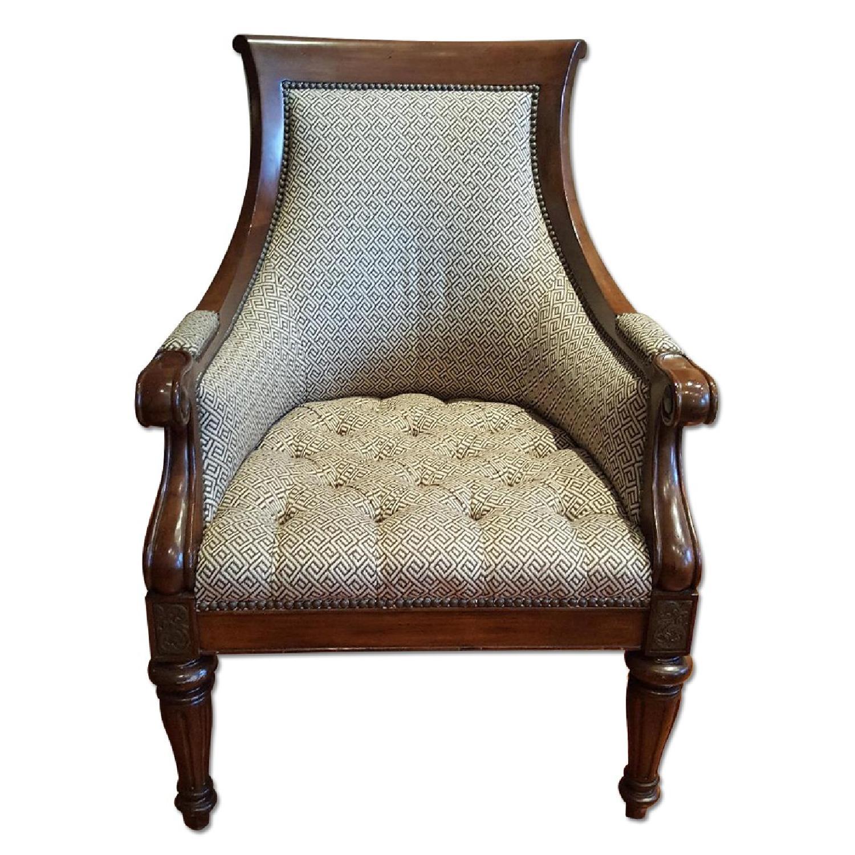 Thomasville Chair & Ottoman - image-4