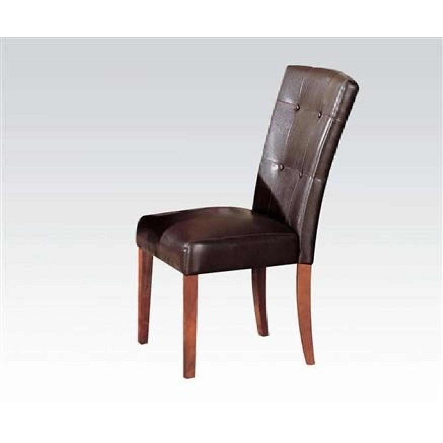 Parson Dining Chairs Upholstered in Brown - image-1