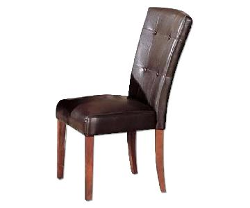 Parson Dining Chairs Upholstered in Brown