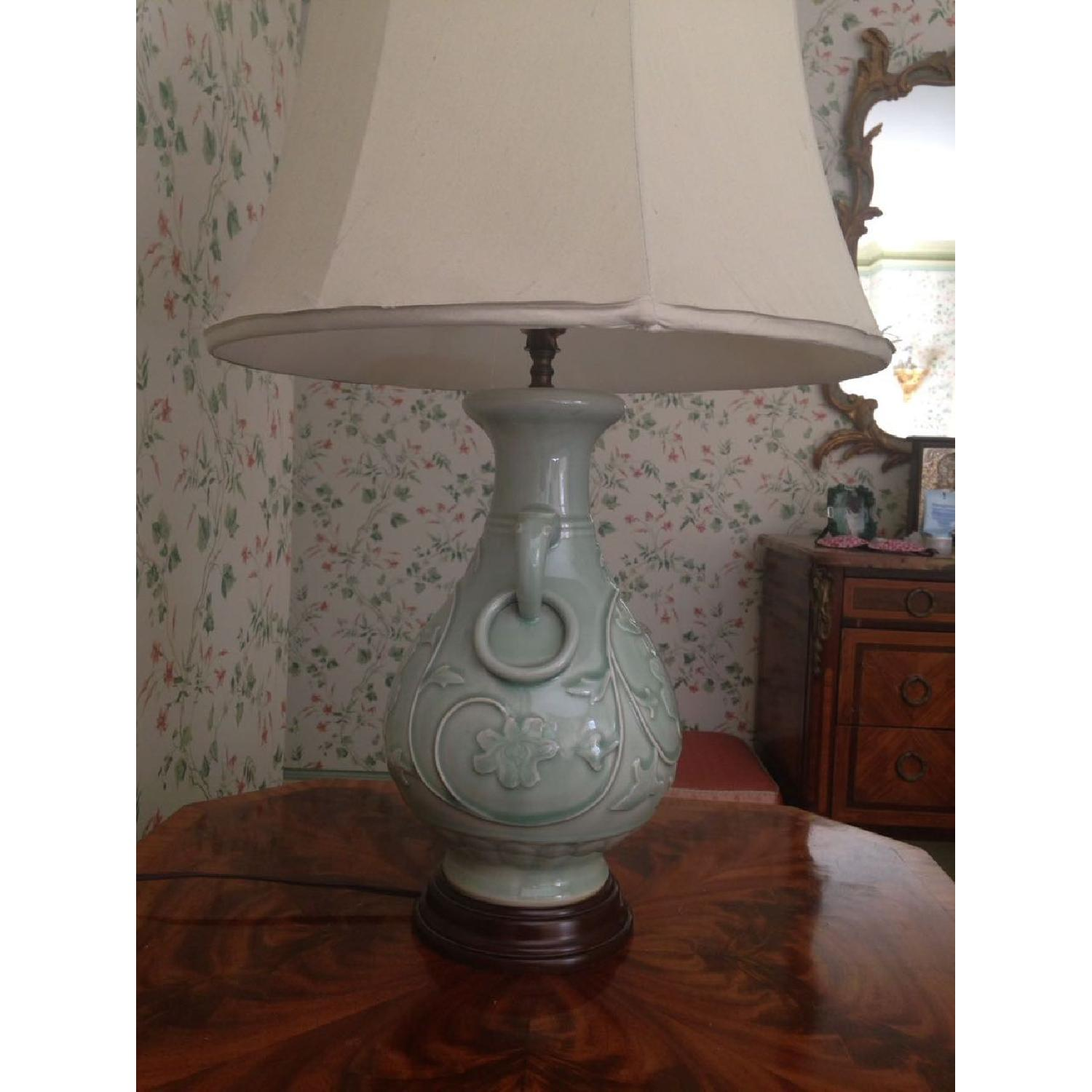 Green Jade Porcelain Lamp - image-5