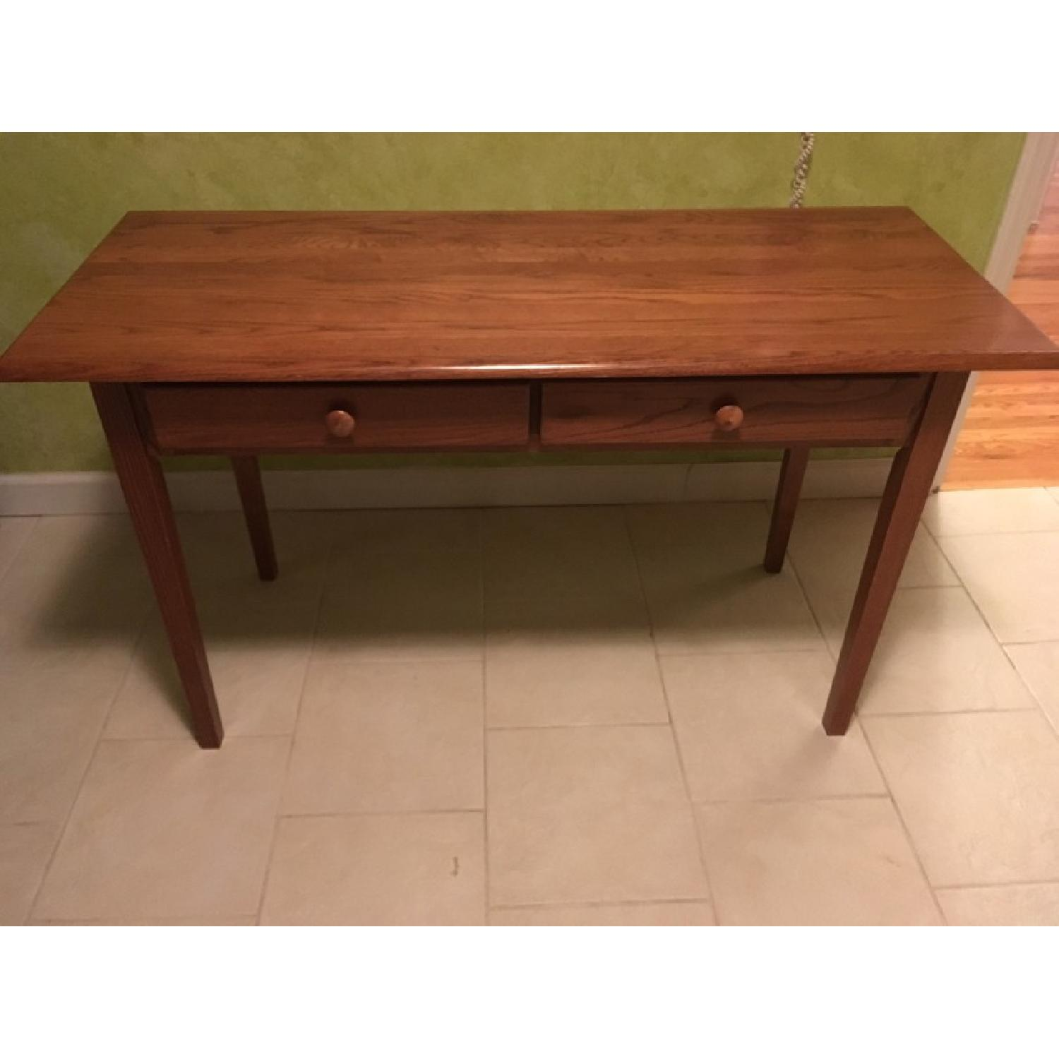 Wood Desk w/ 2 Drawers - image-1