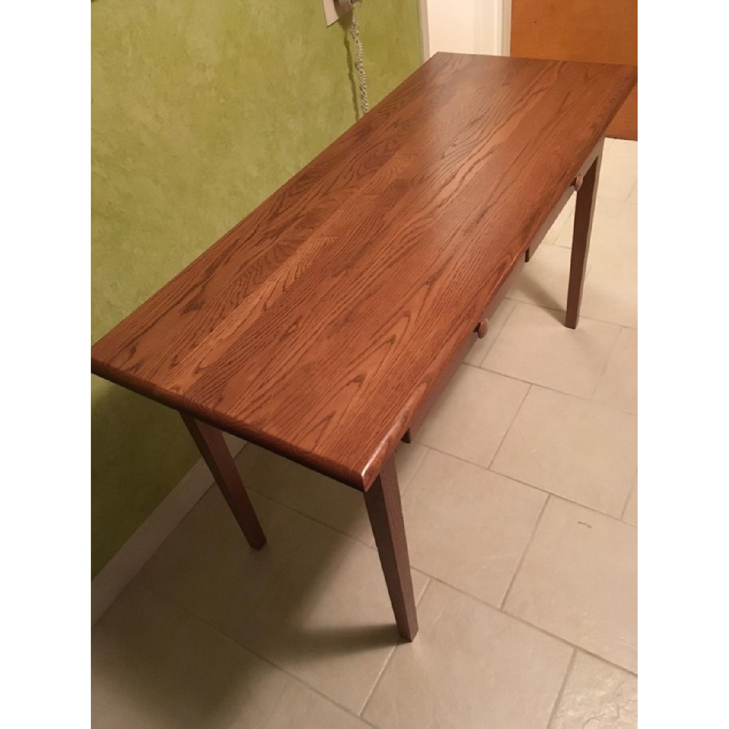 Wood Desk w/ 2 Drawers - image-3