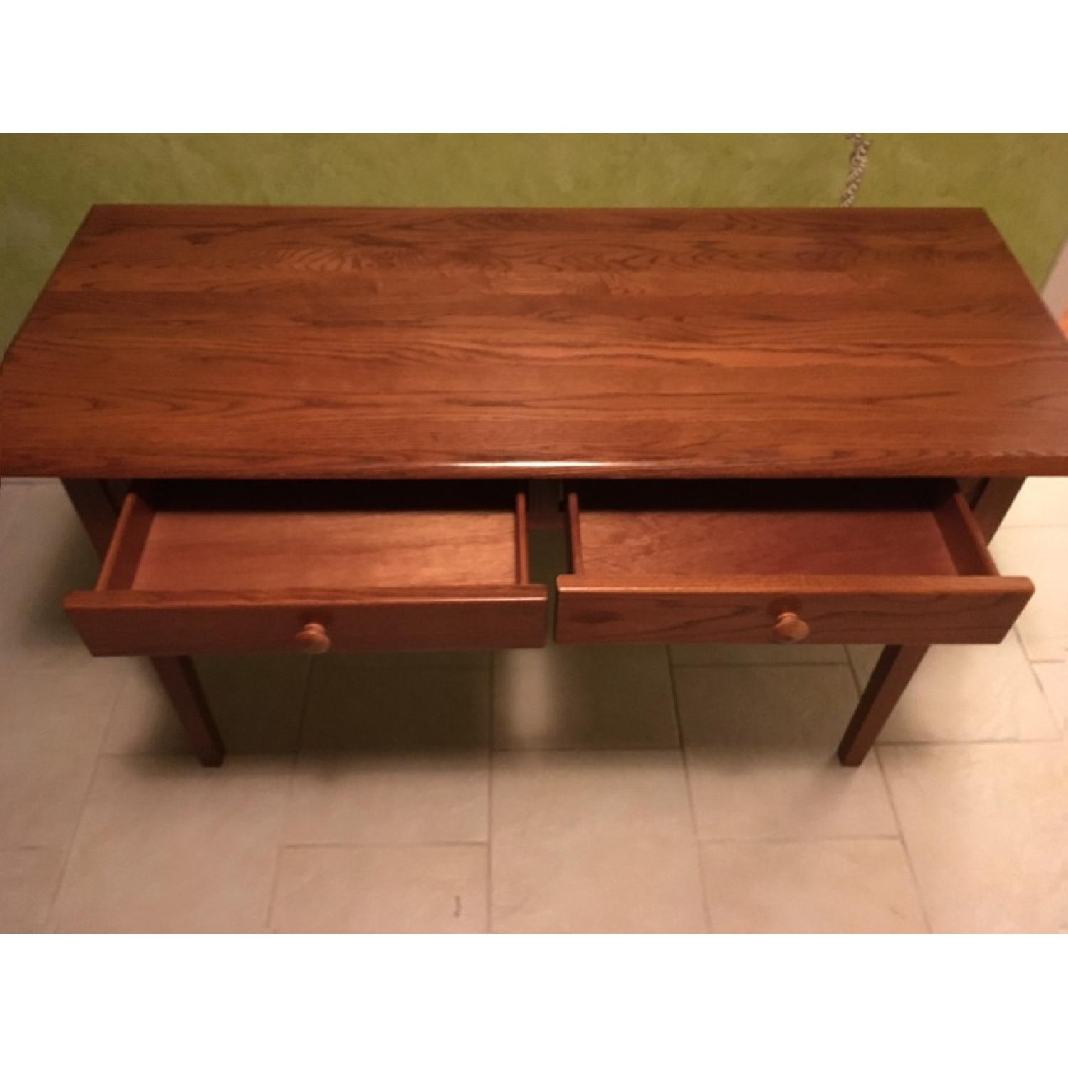 Wood Desk w/ 2 Drawers - image-4
