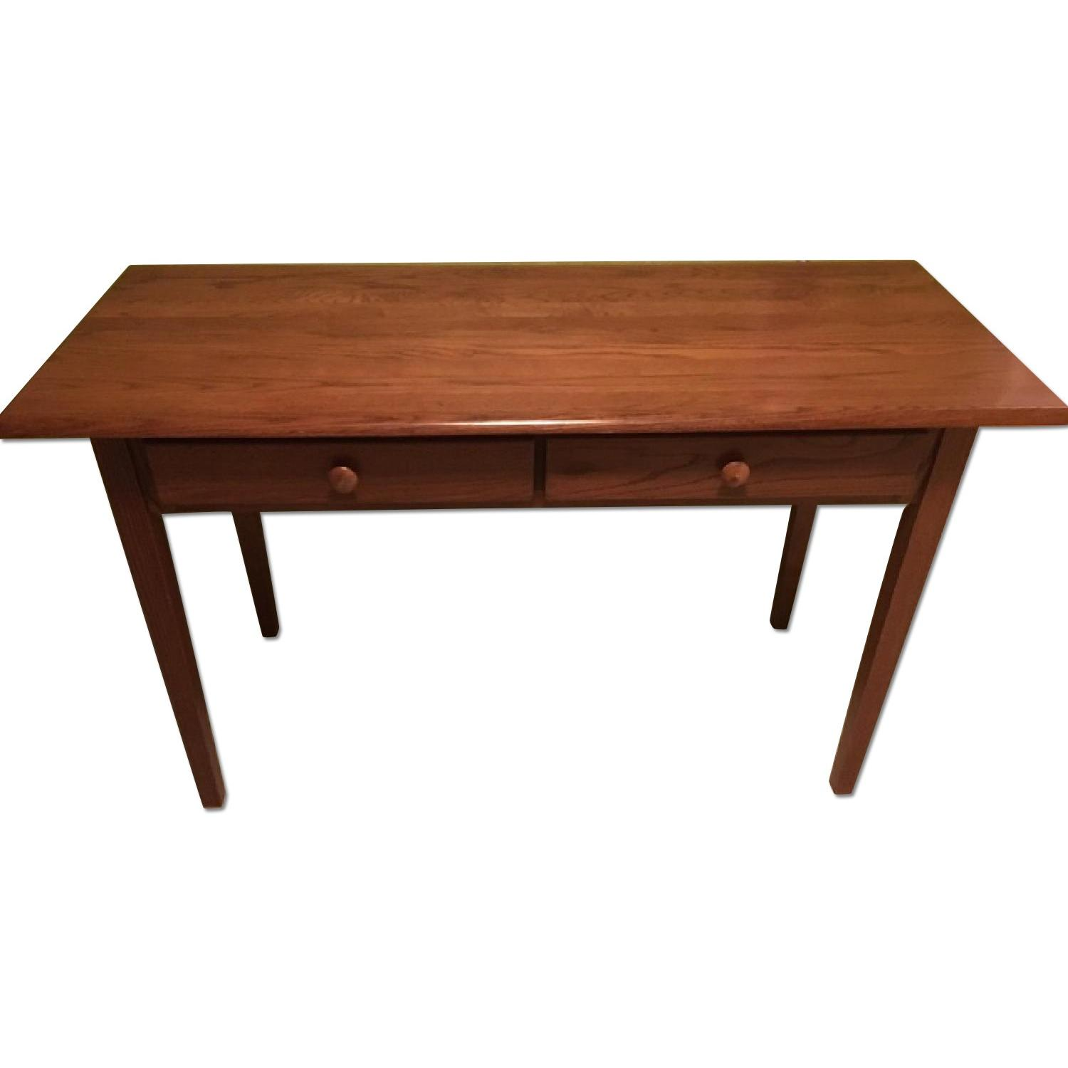 Wood Desk w/ 2 Drawers - image-0