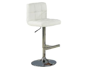 Modern White Height Adjustable Swivel Bar Stool