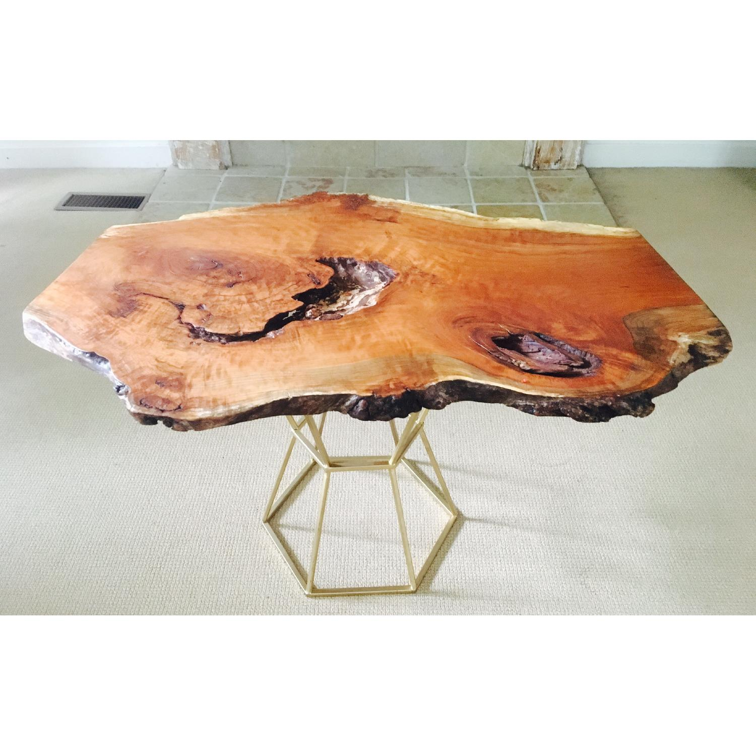 Live Edge Cherry Burl Coffee Table - image-1