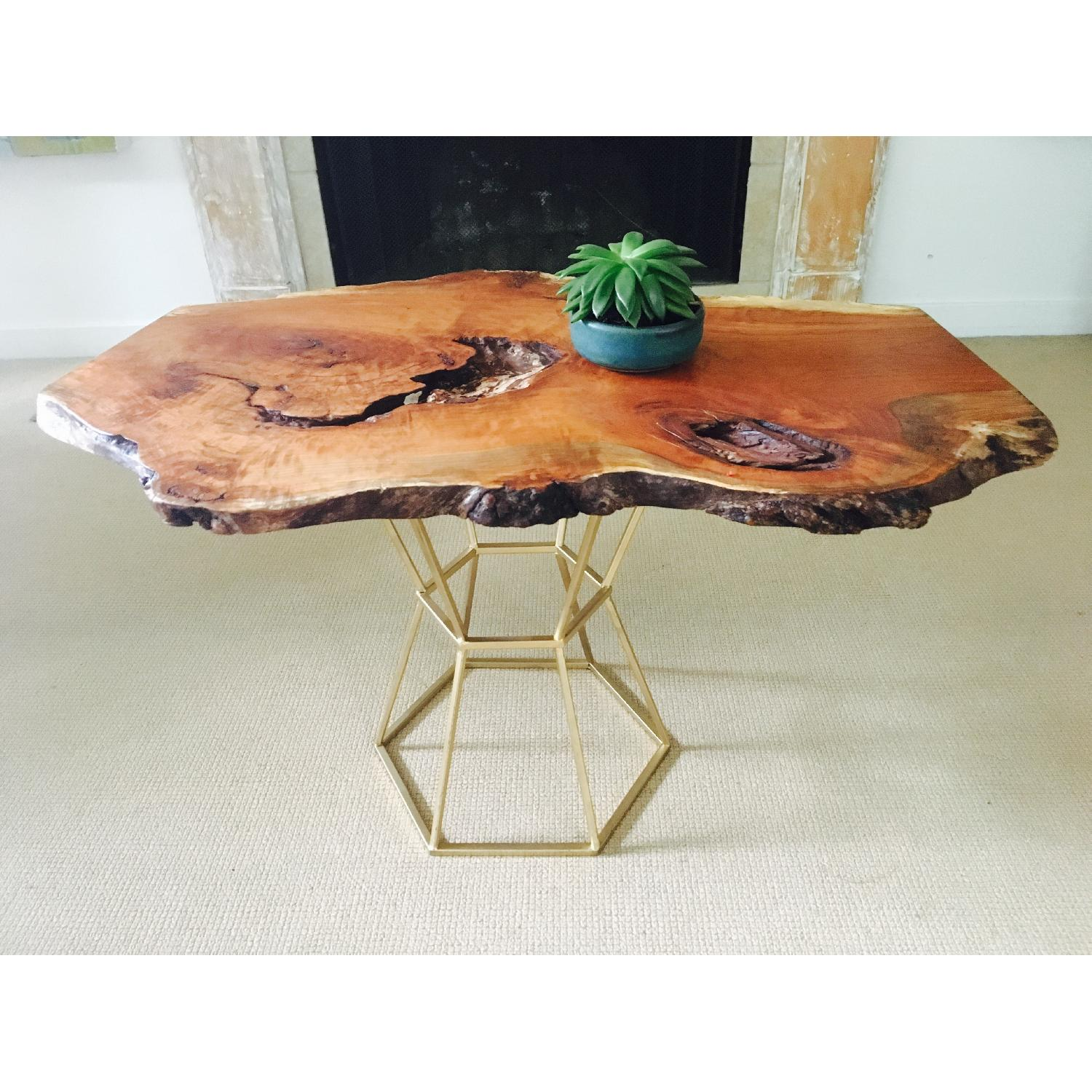 Live Edge Cherry Burl Coffee Table - image-3