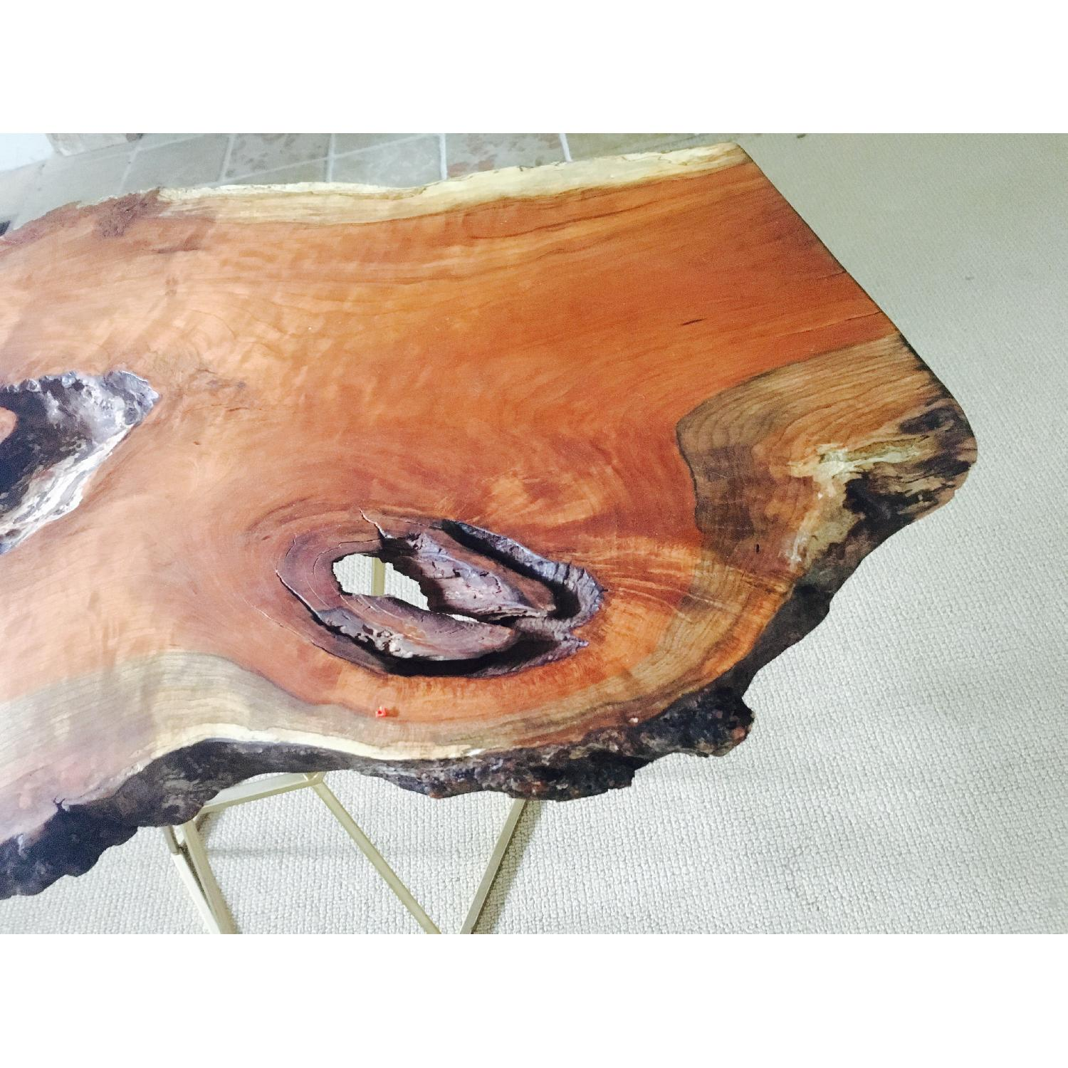 Live Edge Cherry Burl Coffee Table - image-4
