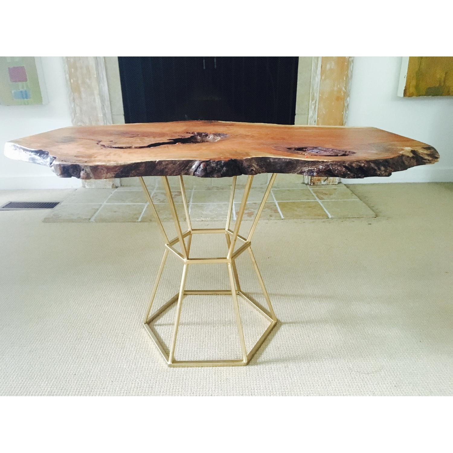 Live Edge Cherry Burl Coffee Table - image-5
