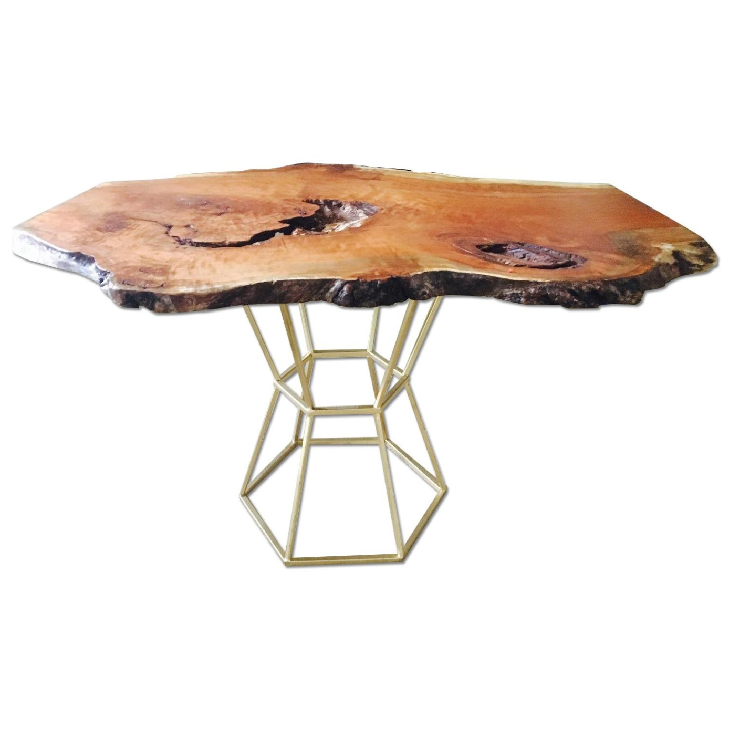 Live Edge Cherry Burl Coffee Table - image-0