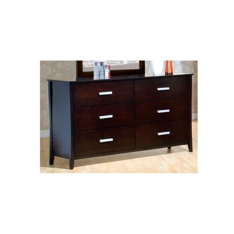 Large 6-Drawer Solid Wood Dresser in Espresso Finish - image-1