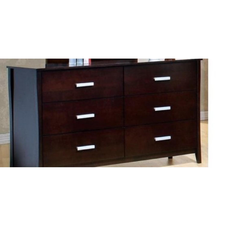 Large 6-Drawer Solid Wood Dresser in Espresso Finish - image-2