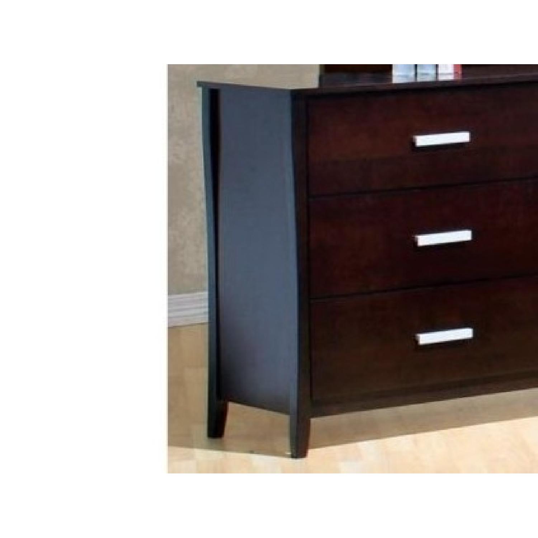 Large 6-Drawer Solid Wood Dresser in Espresso Finish - image-3