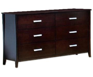 Large 6-Drawer Solid Wood Dresser in Espresso Finish