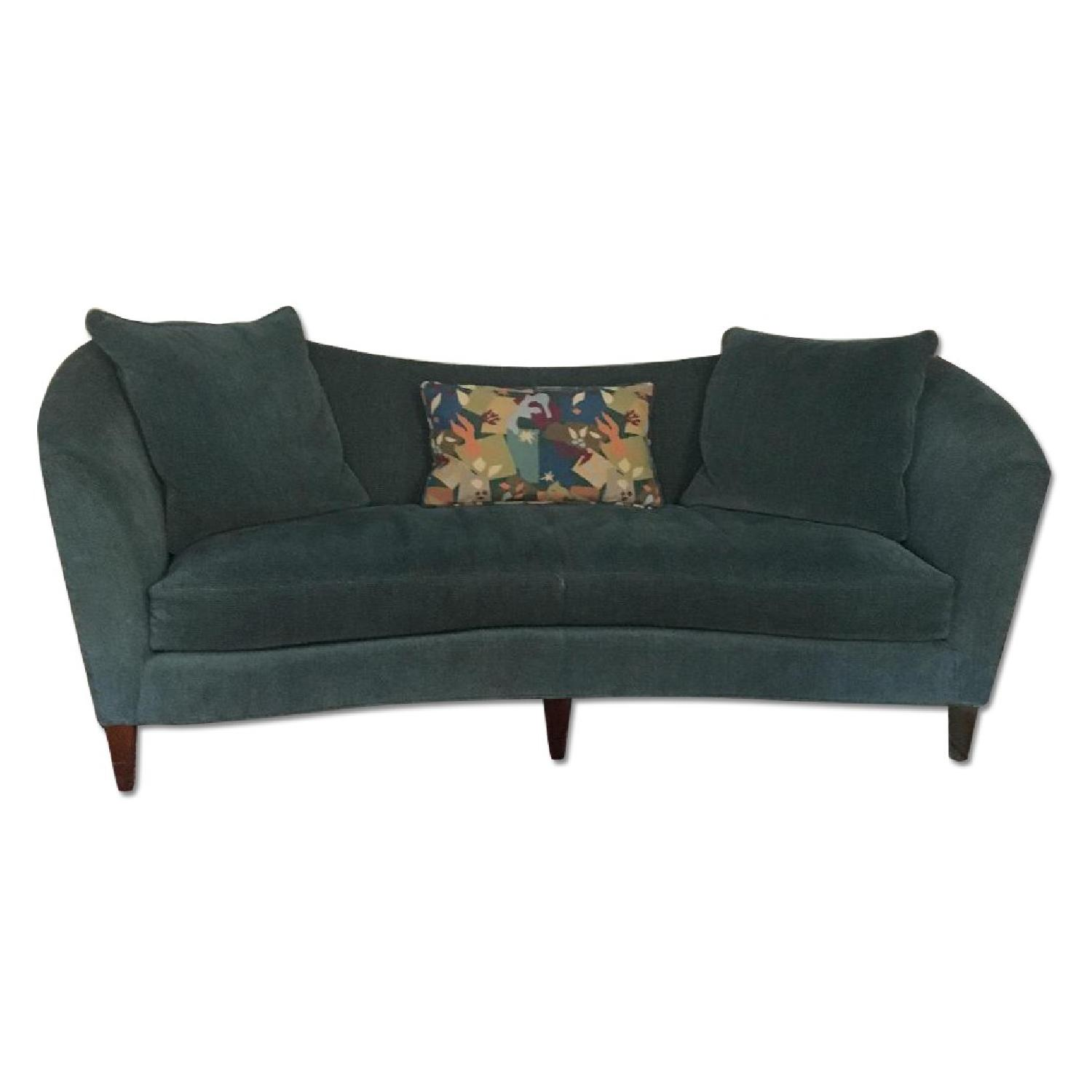 Blue Fabric Curved Sofas - image-0