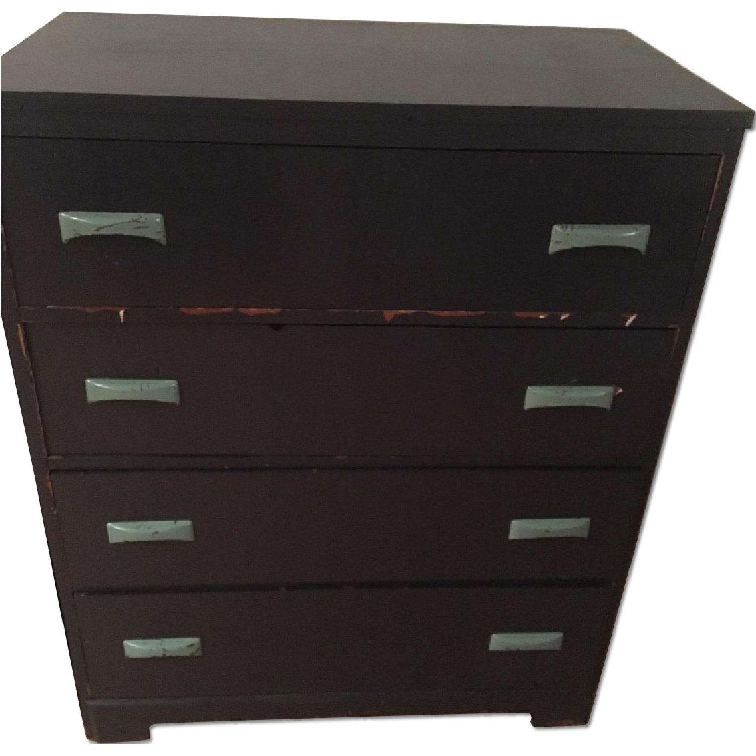 Hummel's Good Furniture Dark Blue Classic 4-Drawer Dresser - image-0